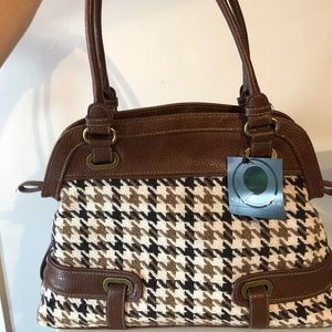 Apostrophe | Brown Houndstooth Shoulder Bag
